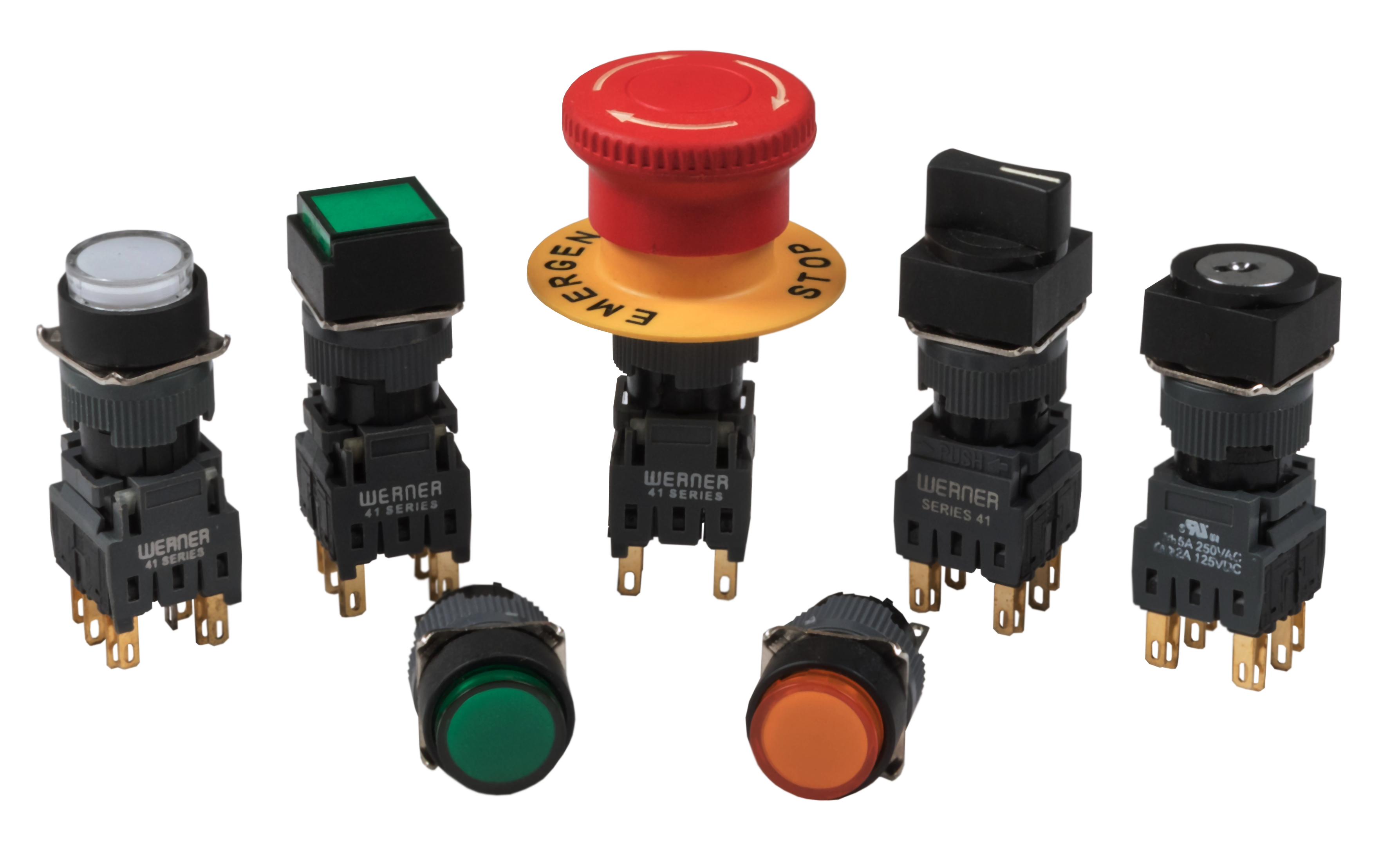 Werner 41 Series Pushbutton Switches